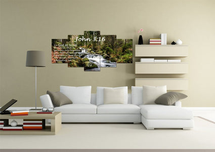 John 3:16 KJV #14 Bible Verse Canvas Wall Art