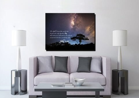 John 3:16 KJV #16 Bible Verse Canvas Wall Art
