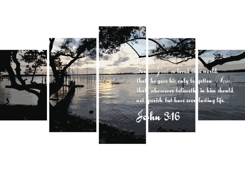 John 3:16 KJV #24 Bible Verse Canvas Wall Art