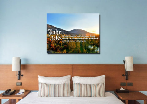 John 3:16 KJV #26 Bible Verse Canvas Wall Art