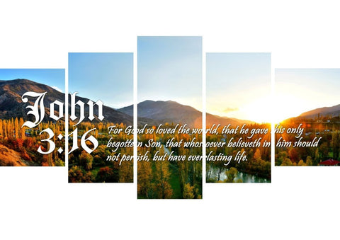 Image of John 3:16 KJV #26 Bible Verse Canvas Wall Art