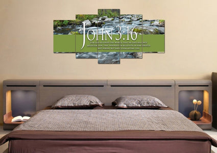 John 3:16 KJV #28 Bible Verse Canvas Wall Art