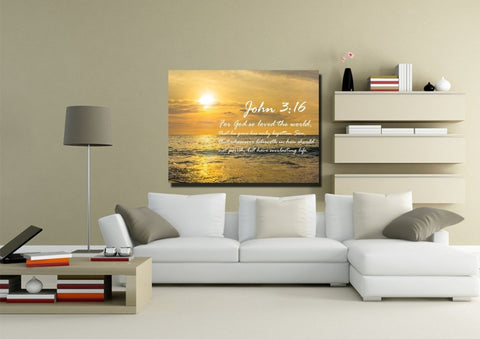John 3:16 KJV #3 Bible Verse Canvas Wall Art