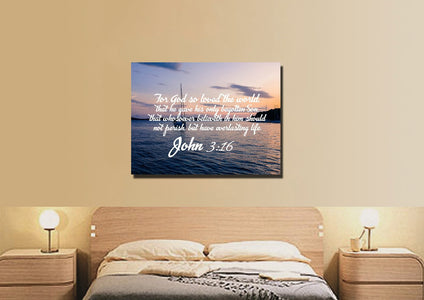 John 3:16 KJV #5 Bible Verse Canvas Wall Art