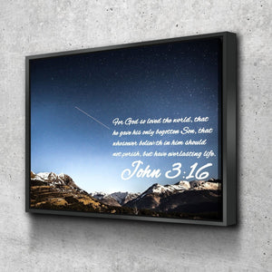 John 3:16 KJV #7 Bible Verse Canvas Wall Art