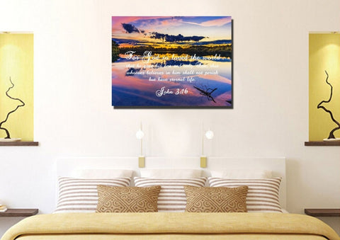 Image of John 3:16 NIV #1 Bible Verse Canvas Wall Art