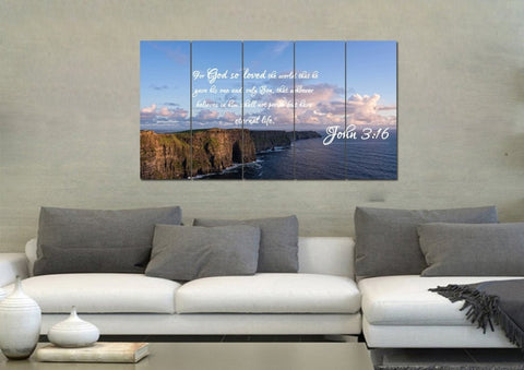 Image of John 3:16 NIV #12 Bible Verse Canvas Wall Art