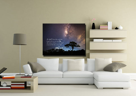 John 3:16 NIV #16 Bible Verse Canvas Wall Art
