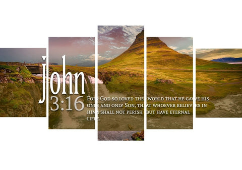 Image of John 3:16 NIV #27 Bible Verse Canvas Wall Art
