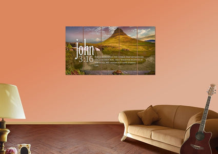 John 3:16 NIV #27 Bible Verse Canvas Wall Art