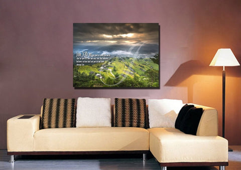 Image of John 3:16 NIV #30 Bible Verse Canvas Wall Art