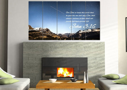 John 3:16 NIV #7 Bible Verse Canvas Wall Art