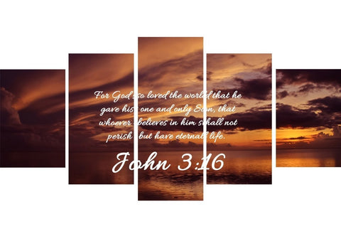 John 3:16 NIV #8 Bible Verse Canvas Wall Art