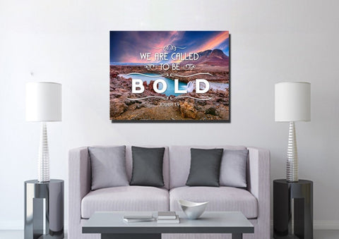Image of Joshua 1:9 We are called to be Bold Canvas Wall Art Print