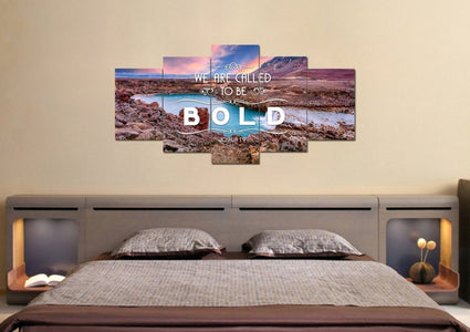 Joshua 1:9 We are called to be Bold Canvas Wall Art Print