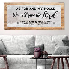 Joshua 24:15 - Serve the Lord Christian Signs for Home