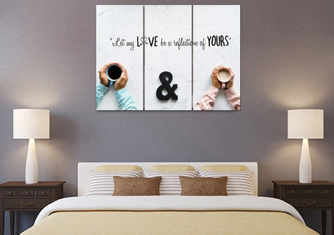Let my Love be a Reflection of yours Christian Quotes Wall Art Canvas