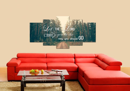 Let the Lord Direct you in the Way you Should Go Christian Quotes Wall Art Canvas