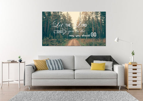 Image of Let the Lord Direct you in the Way you Should Go Christian Quotes Wall Art Canvas