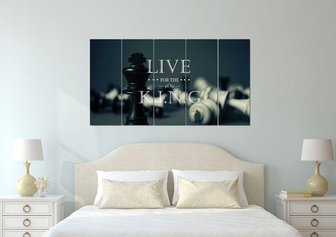 Live for the King Christian Quotes Wall Art Canvas