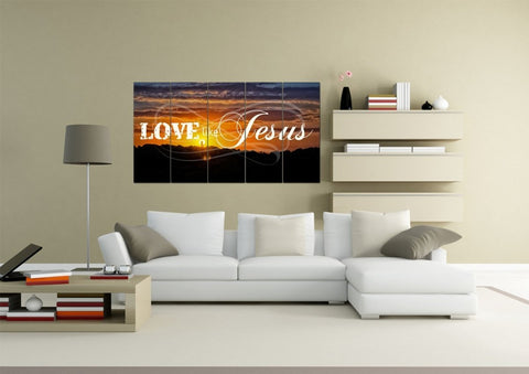 Lord Jesus, I Lay my Burdens Down at your Feet Christian Quotes Wall Art Canvas
