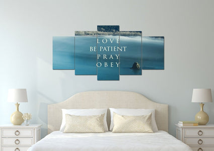 Love Be Patient Pray Obey Canvas Wall Art Print