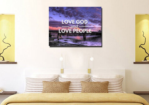 Love God and Love People Canvas Wall Art Print