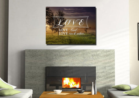 Love God love each other Wall Art Canvas Print