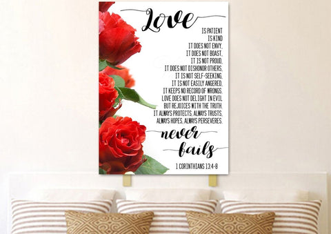 Image of Love is Patient, Love is Kind #1 Canvas Print