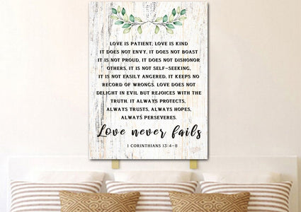 Love is Patient, Love is Kind #10 Canvas Print