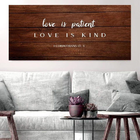 Love is Patient, Love is Kind #12 Canvas Print