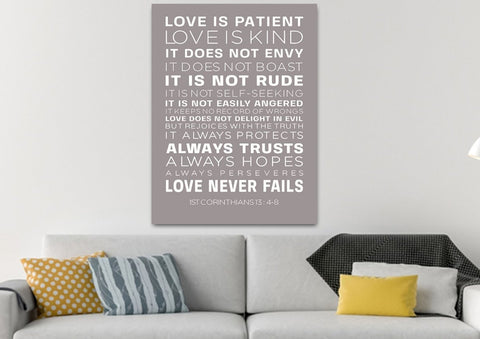 Love is Patient, Love is Kind #14 Canvas Print