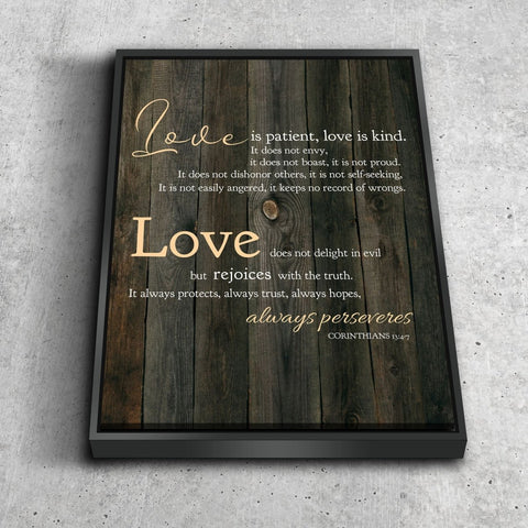 Image of Love is Patient, Love is Kind #17 Canvas Print