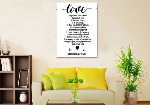 Love is Patient, Love is Kind #2 Canvas Print