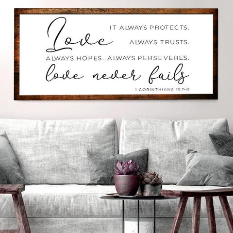 Love is Patient, Love is Kind #4 Canvas Print