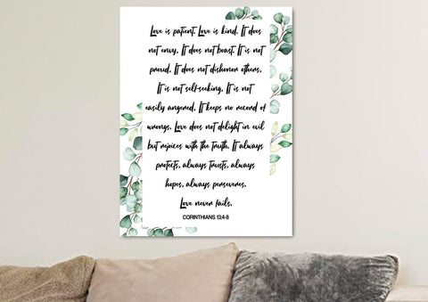 Image of Love is Patient, Love is Kind #6 Canvas Print