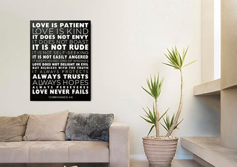 Love is Patient, Love is Kind #7 Canvas Print
