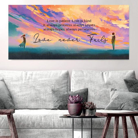 Image of Love is Patient, Love is Kind #9 Canvas Print