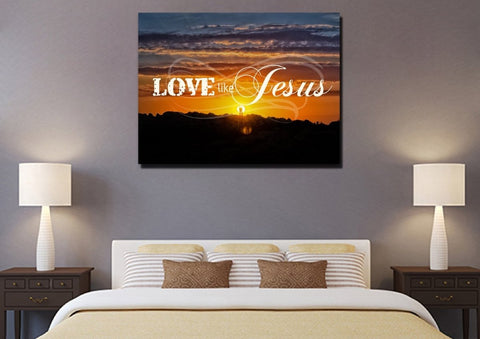 Love like Jesus Christian Quotes Wall Art Canvas