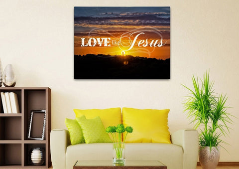 Image of Love like Jesus Christian Quotes Wall Art Canvas
