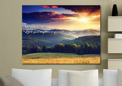 Mark 12:31 Love your Neighbor as Yourself Bible Verse Canvas Wall Art