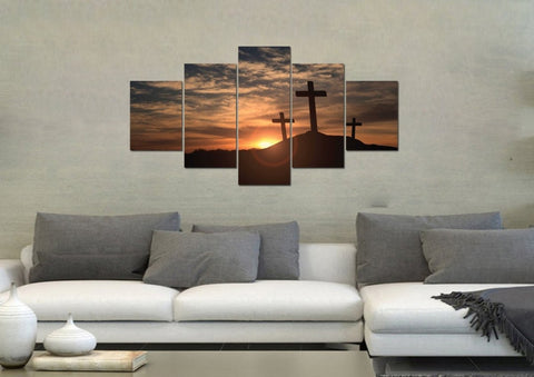 Image of Mount Calvary Sunrise & Sunset - Christian Canvas Wall Art