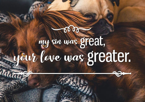 Image of My Sin was Great, Your Love was Greater Canvas Wall Art Print