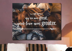 My Sin was Great, Your Love was Greater Canvas Wall Art Print
