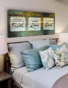 Our Family is Founded on Faith - Christian Signs for Home