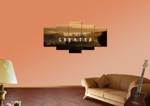 Our God is Greater Canvas Wall Art Print - Christian Walls