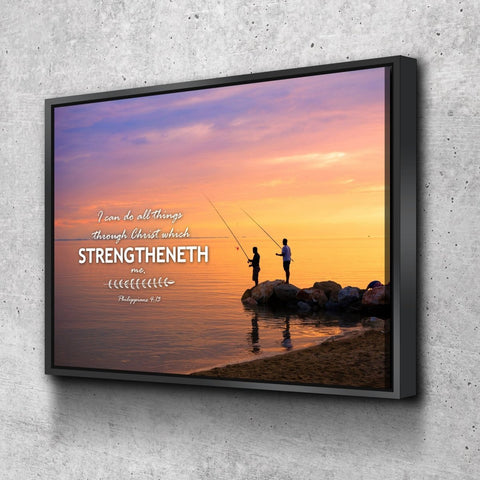 Image of Philippians 4:13 KJV #1 Bible Verse Canvas Wall Art