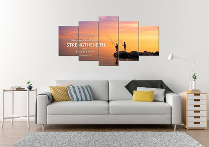 Philippians 4:13 KJV #1 Bible Verse Canvas Wall Art