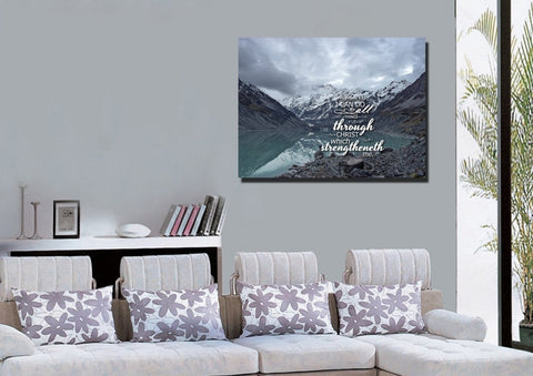 Philippians 4:13 KJV #10 Bible Verse Canvas Wall Art