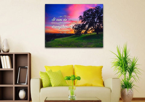 Image of Philippians 4:13 KJV #2 Bible Verse Canvas Wall Art